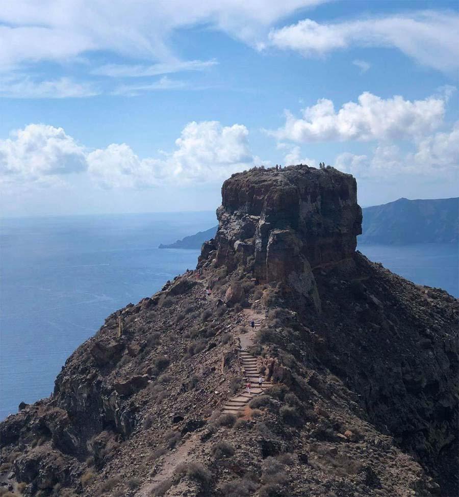 Skaros Rock the balcony of Santorini