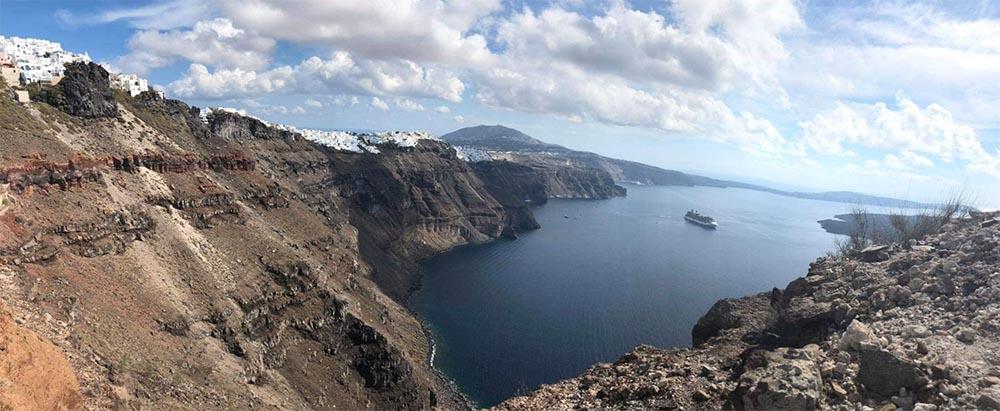 View oc caldera rom Skaros Rock