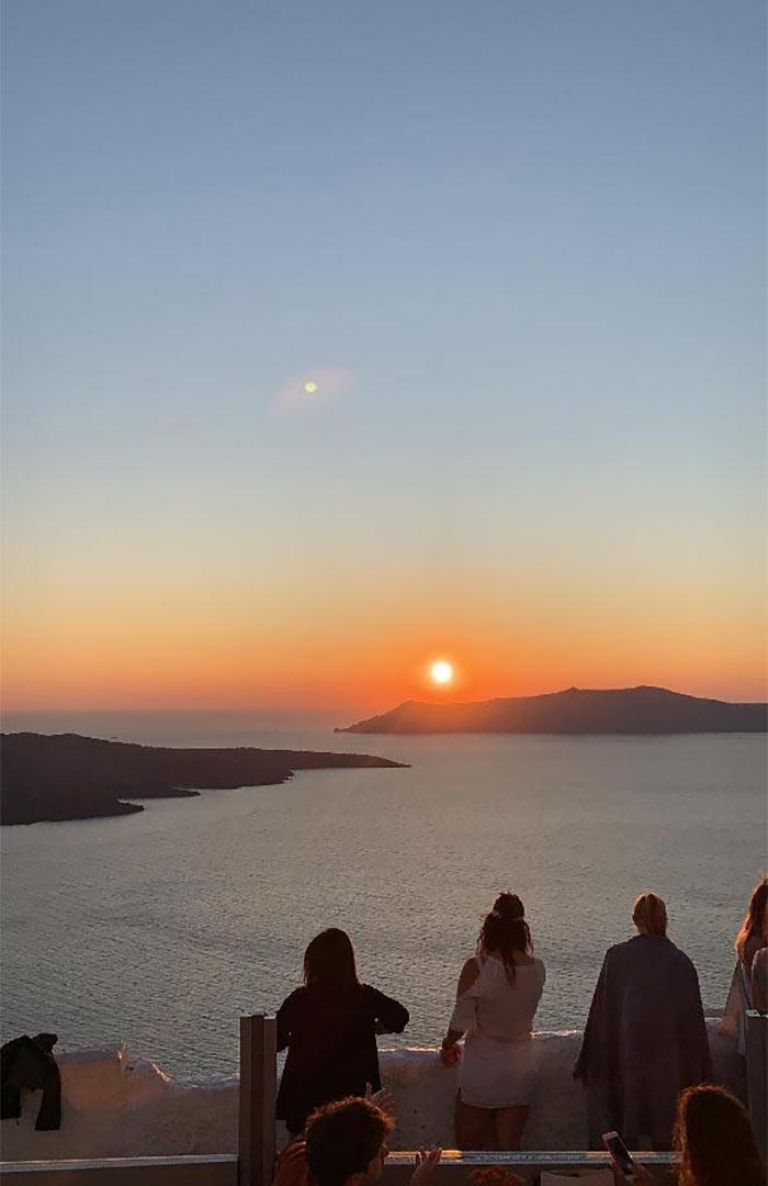 Sunset Santorini Island