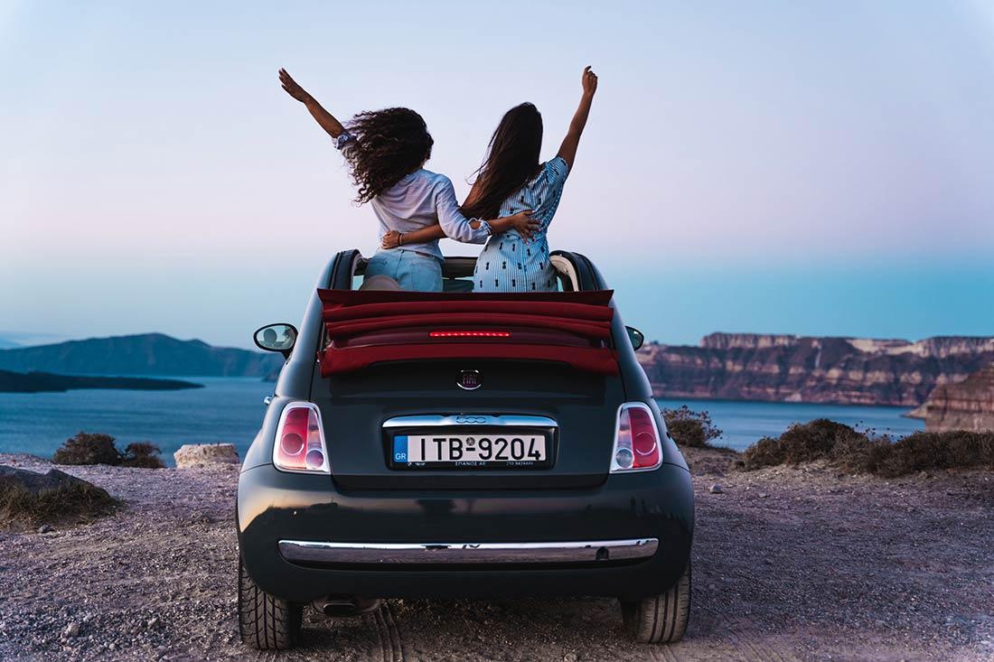 Car hire Santorini Island - Overlooking the Caldera Santorini