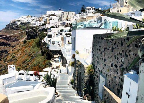 Santorini Streets by the Caldera