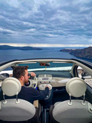 Santorini Car Hire - Caldera View